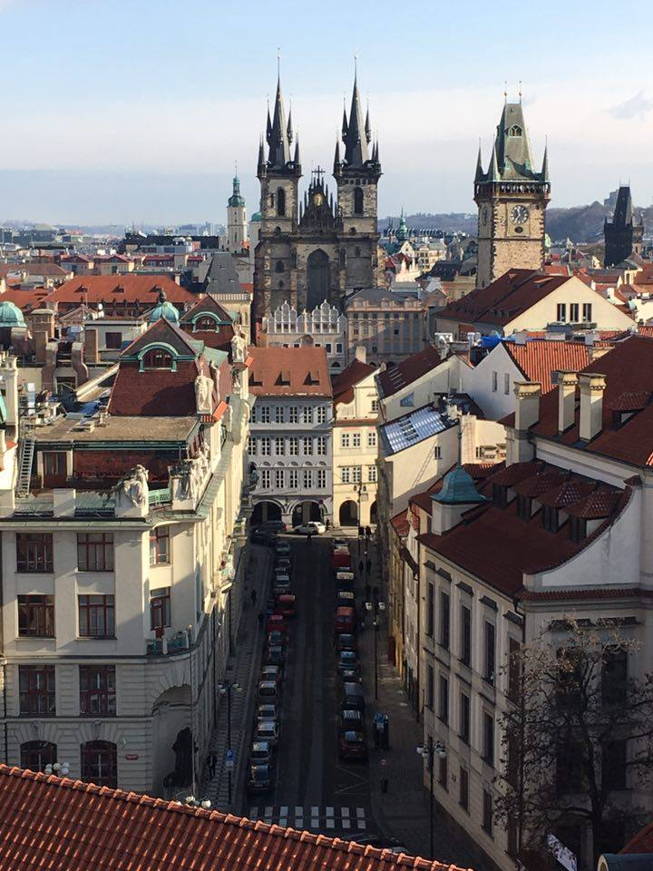 A breathtaking view of Prague