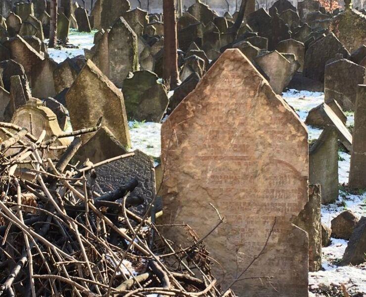 Graves in the Jewish Quarter in Prague