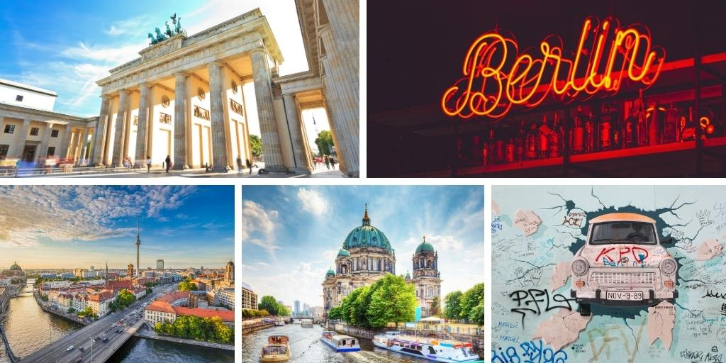 Collage of places to visit in Berlin to add to your Berlin itinerary