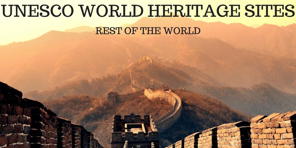 Unesco rest of world sites