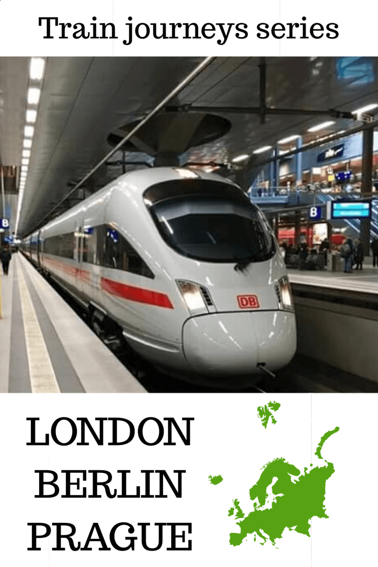 Traveling by train from London to Berlin to Prague