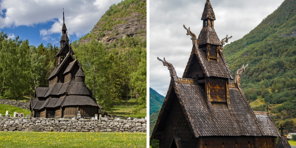 Borgund stave church you can see when visiting Laerdal in Norway