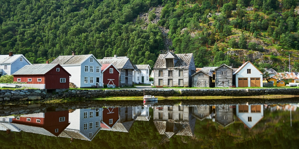 The village of Laerdal in Norway