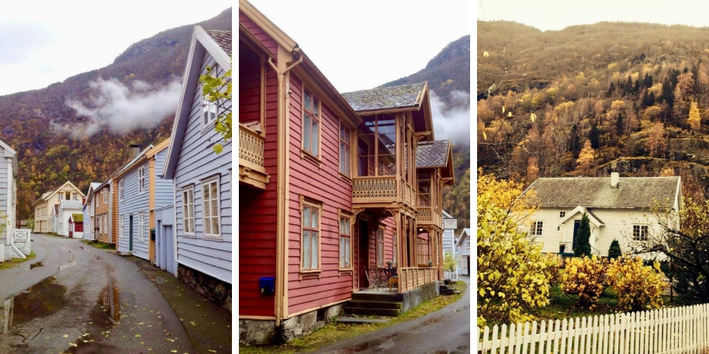 some of the beautiful old houses in Laerdal Norway
