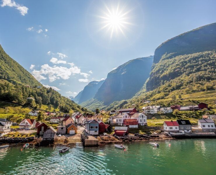 The beautiful village of Undredal