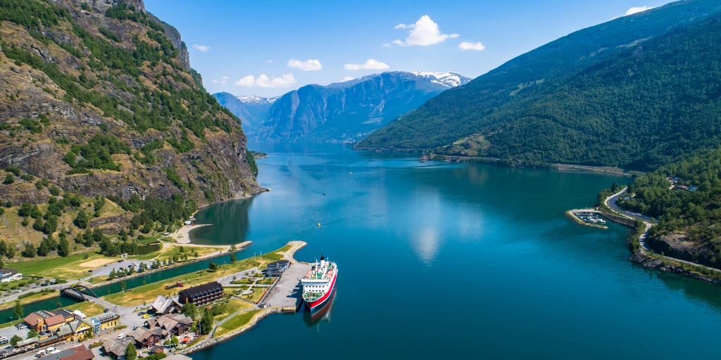 the beautiful Naeroyfjord in Norway