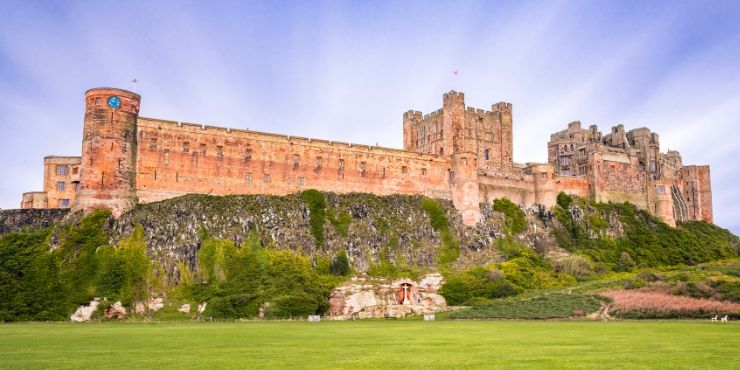Northumberland Coastal Route featured by top international travel blog, Tracy's Travels in Time: image of BAMBURGH CASTLE IN NORTHUMBERLAND