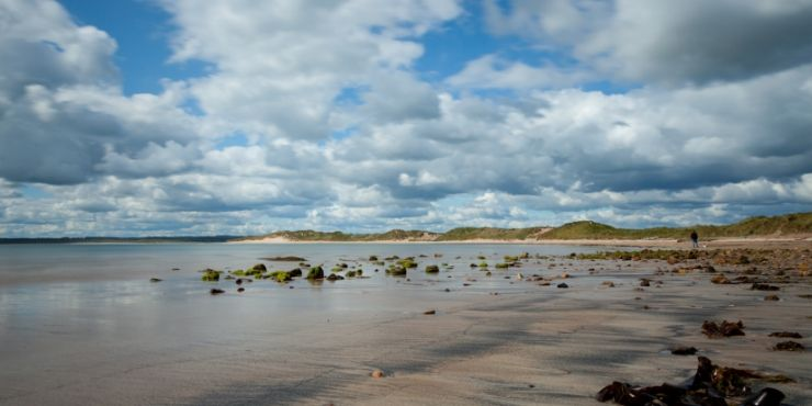 Northumberland Coastal Route featured by top international travel blog, Tracy's Travels in Time: image of Beadnall Beach