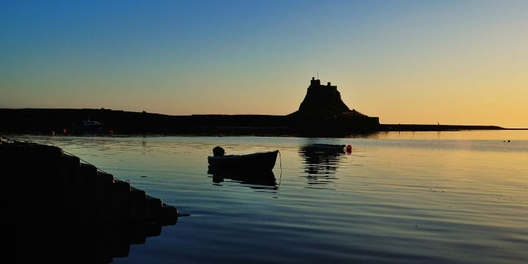 Northumberland Coastal Route featured by top international travel blog, Tracy's Travels in Time: image of LINDISFARNE CASTLE ON HOLY ISLAND
