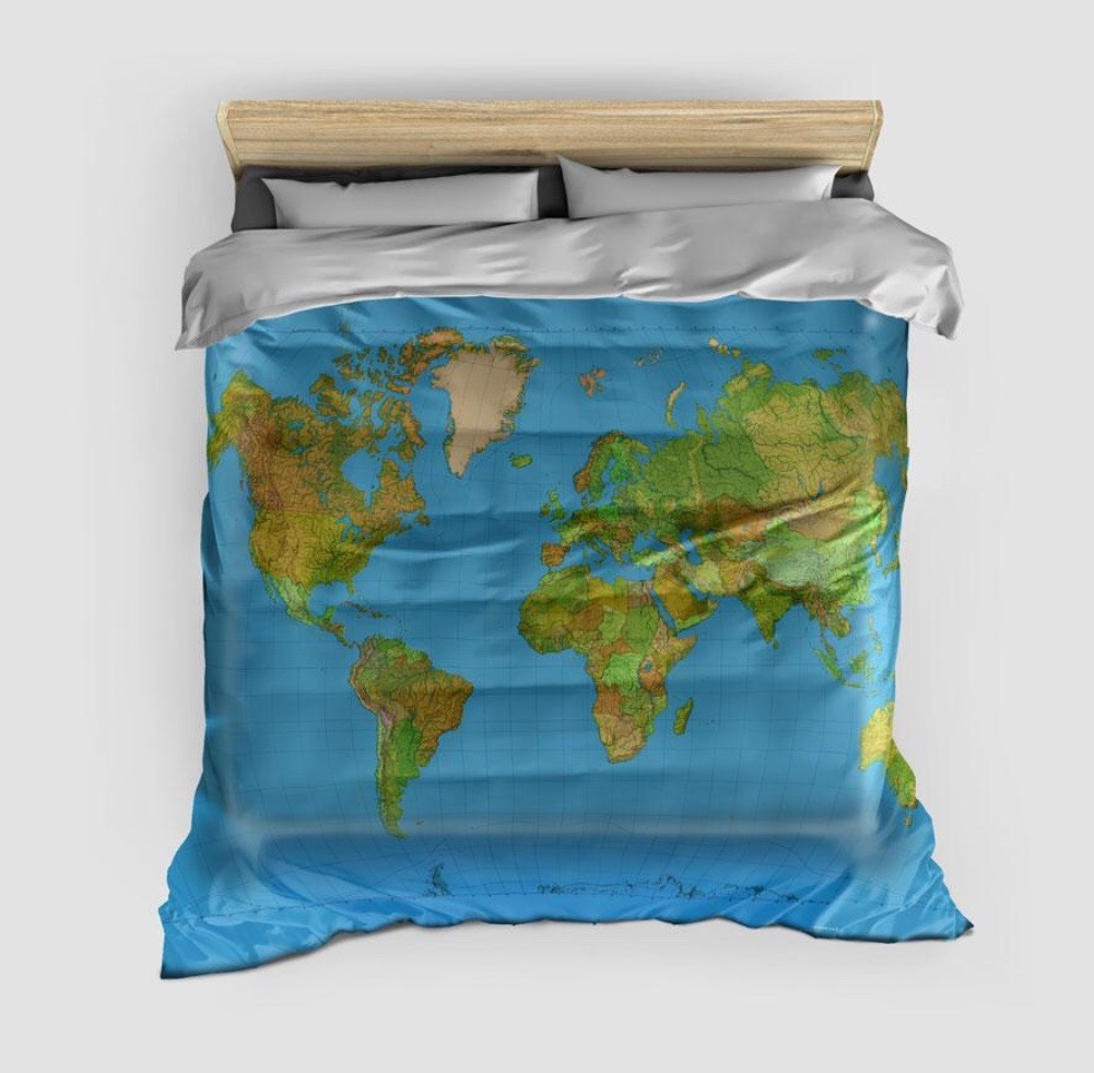DUVET COVER WITH MAP