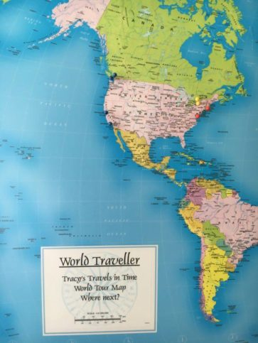 Top 20 Map Gifts | Travel Inspiration | Tracy's Travels in Time World Traveller Map Personalised on