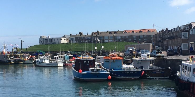 Northumberland Coastal Route featured by top international travel blog, Tracy's Travels in Time: image of SEAHOUSES HARBOUR