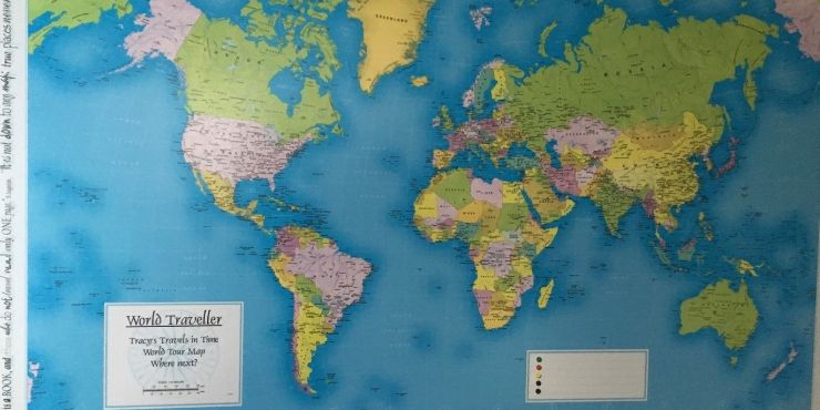 Top 15 Gifts for Map rs | Travel Inspiration | Tracy's Travels ... World Traveller Map Personalised on