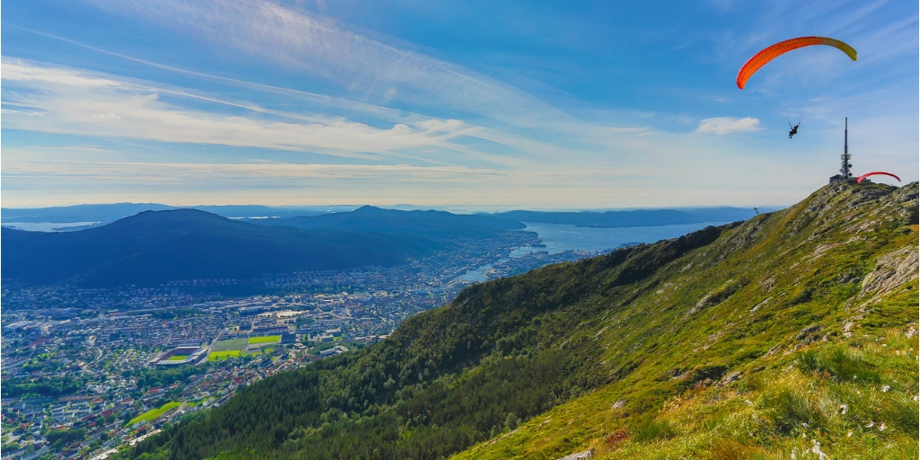 bergen city view from mount ulriken