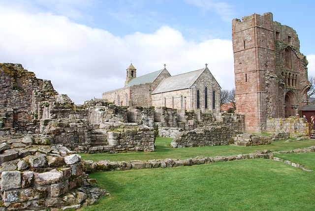 Lindisfarne priory and church- planning a drive up the Northumberland coastal route featured by international travel blog, Tracy's Travels in Time