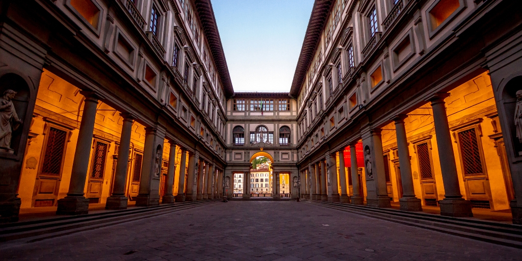 Things to see and do in Florence in 2 days featured by top international travel blogger, Tracy's Travels in Time: image of THE UFFIZI IN FLORENCE