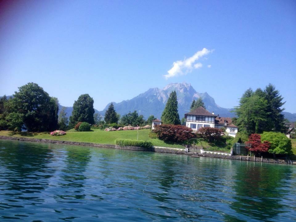 beautiful house on lake lucerne