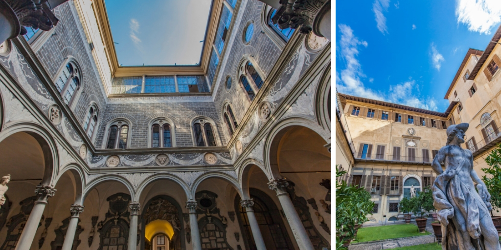The palace de medici in florence italy