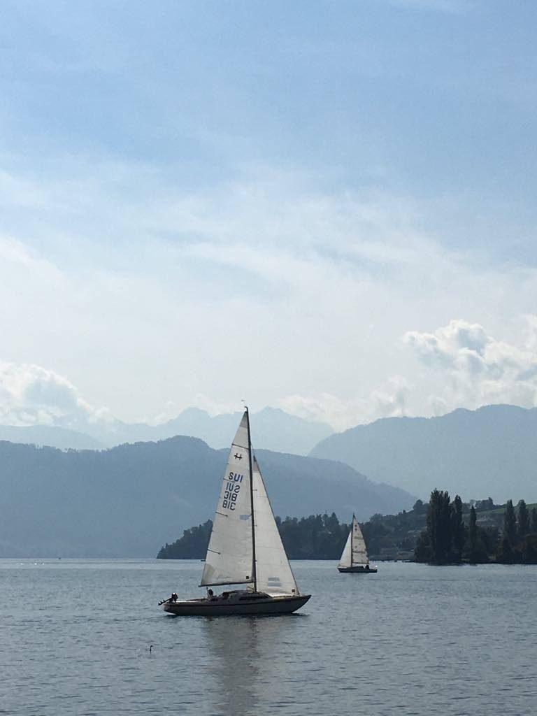 sailing boats on lake Lucerne