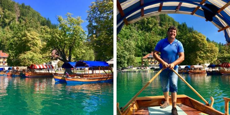 Pletna on Lake Bled