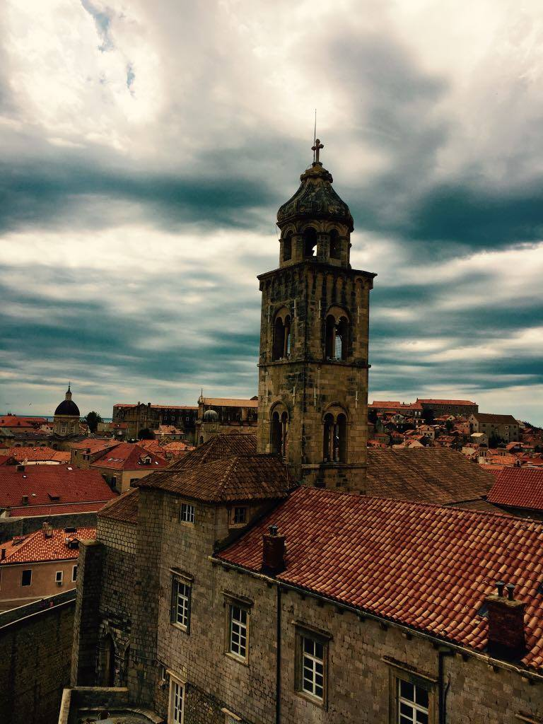 brooding sky over Dubrovnik