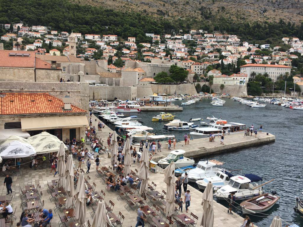 busy-harbour in Dubrovnik