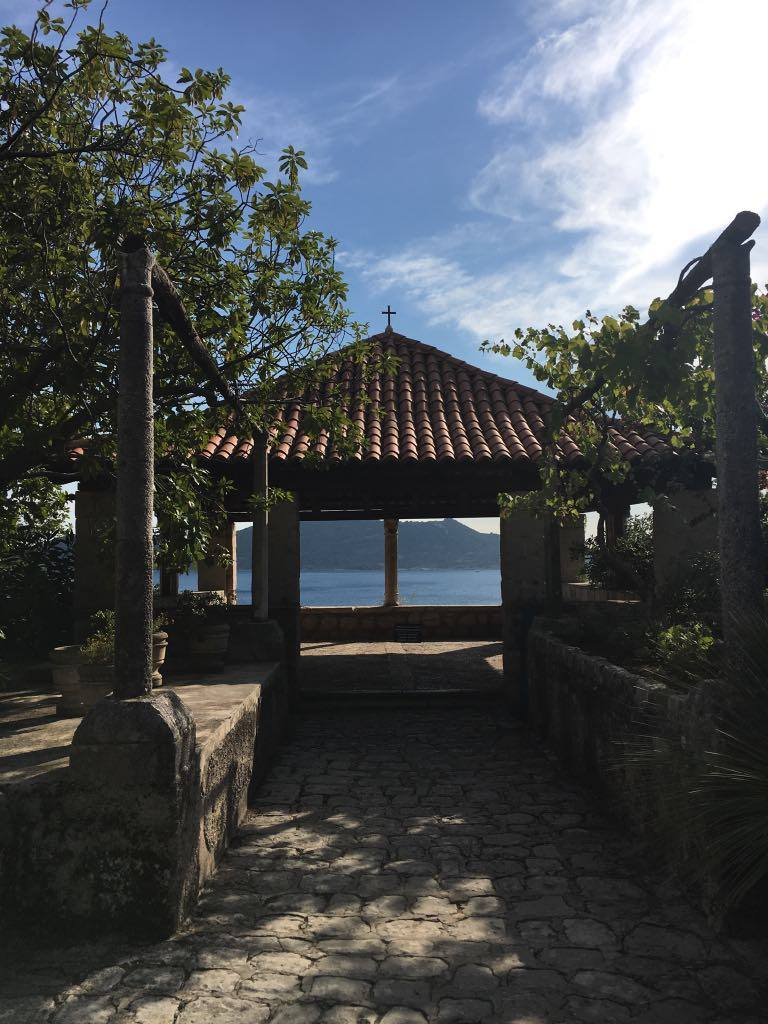 the pavilion at Trsteno