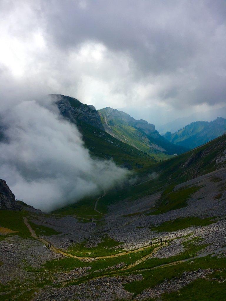 cloud on Mt Pilatus in Switzerland