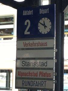 Pier 2 sign for Pilatus