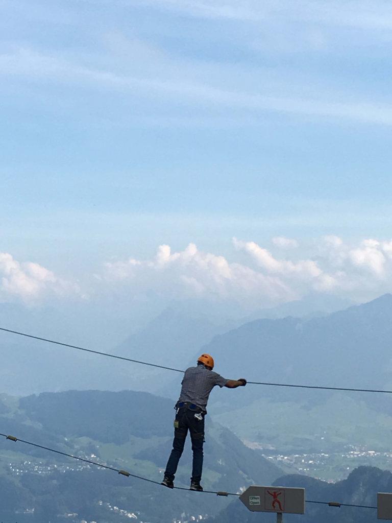 a bit daring Mt Pilatus