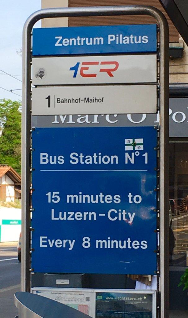 bus back to Lucerne Luzern