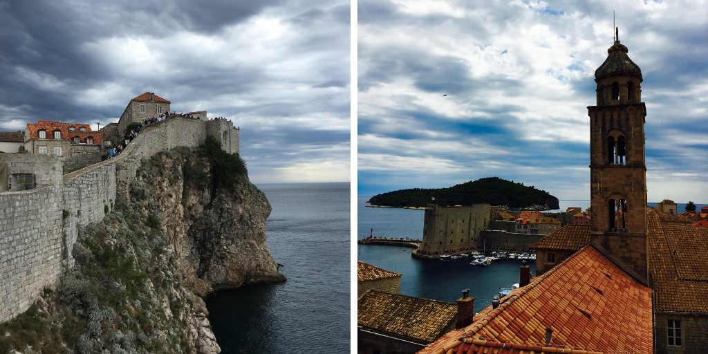 the walls of Dubrovnik in Croatia