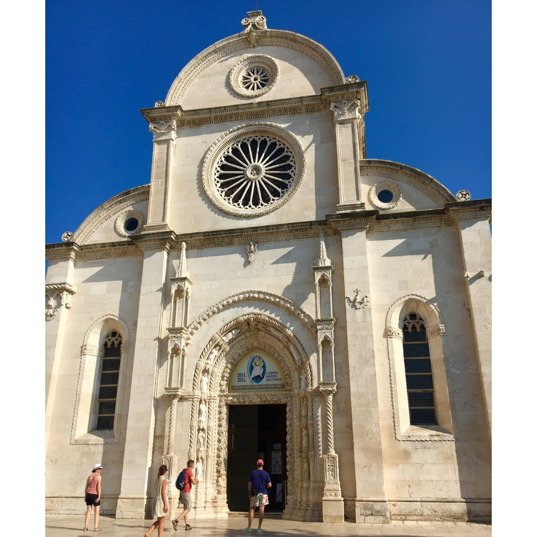 the cathedral in Sibenik