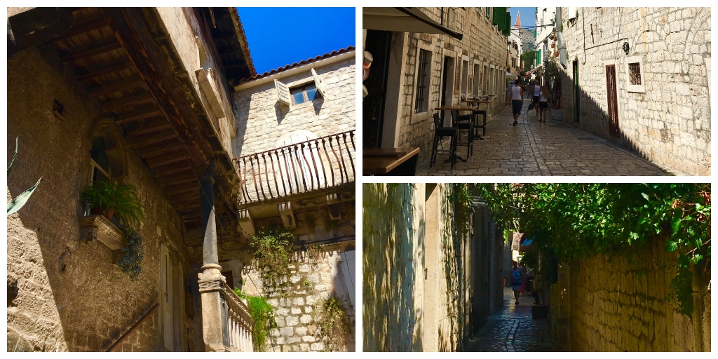 the alleyways of Trogir