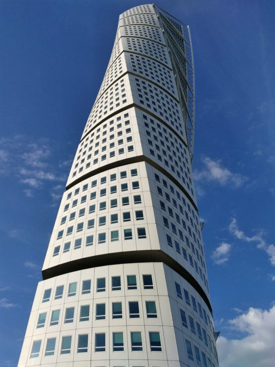 The Turning Torso in Malmo Sweden | How to travel from Copenhagen to Malmo featured by top international travel blog, Tracy's travel in time