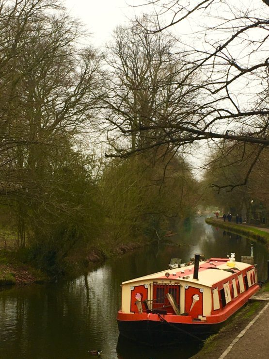 things to do in Saltaire - a canal boat