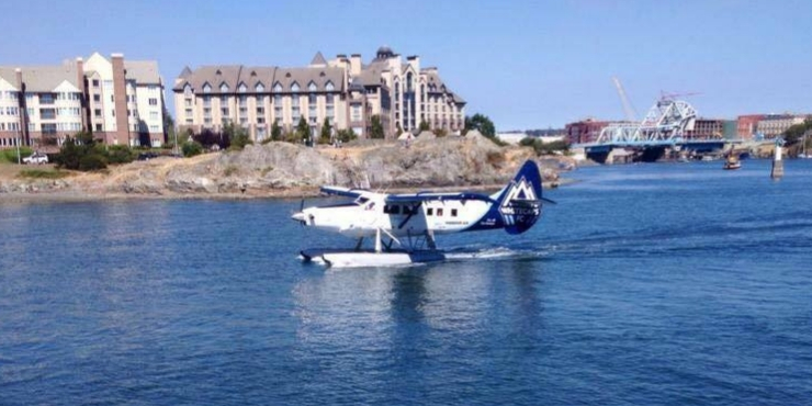SEAPLANE LANDING IN VICTORIA HARBOUR