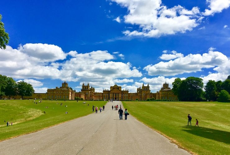 The driveway to Blenheim Palace