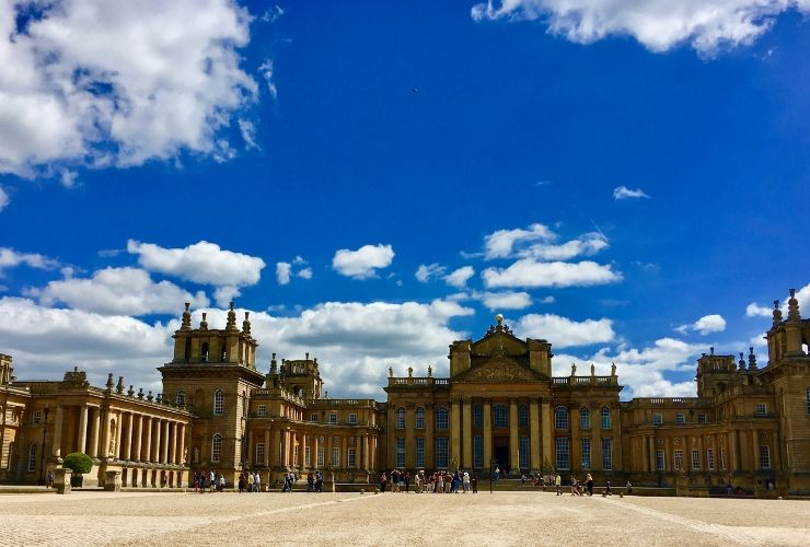 A view of the front of Blenheim Palace