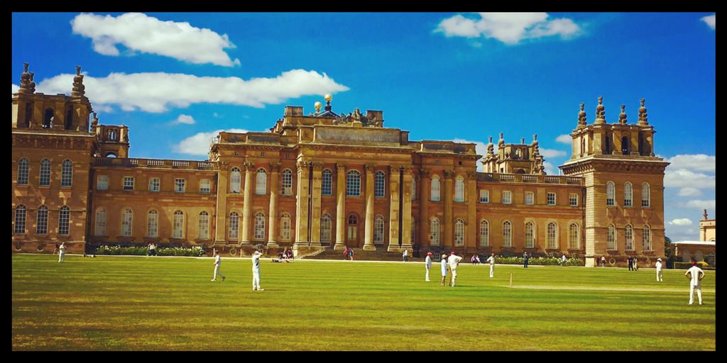 EVENTS AT BLENHEIM PALACE INCLUDE cricket in the summer - visiting Blenheim Palace