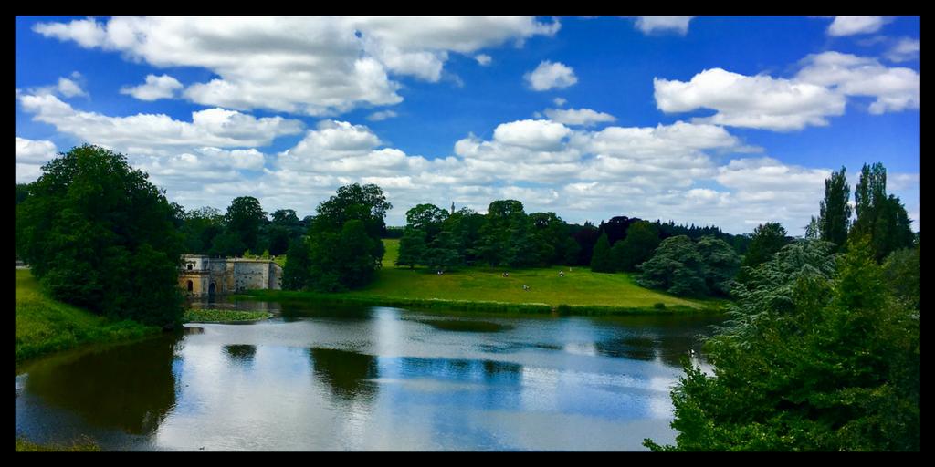 formal gardens at Blenheim Palace