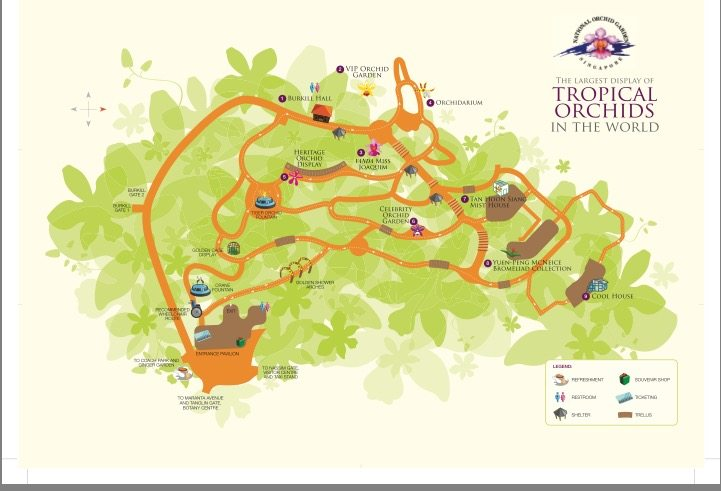 Singapore National Orchid Garden map