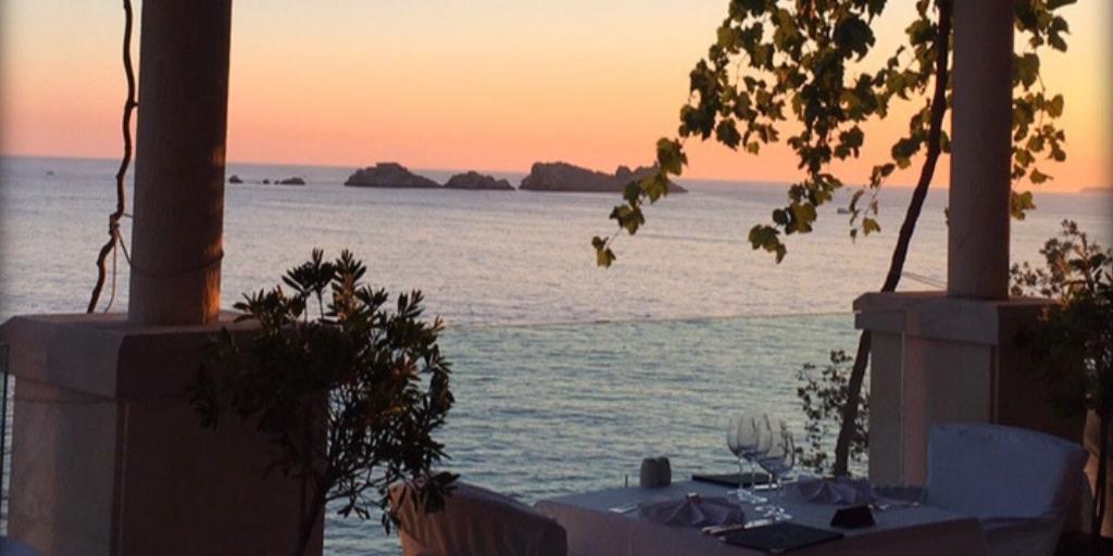 view from hotel more in Babin Kuk Croatia