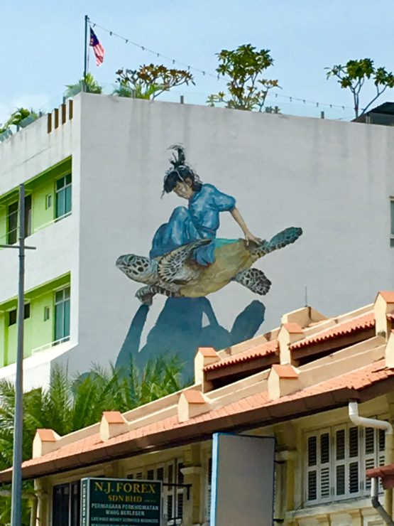 | Penang street art and murals featured by top international travel blogger, Tracy's Travels in Time