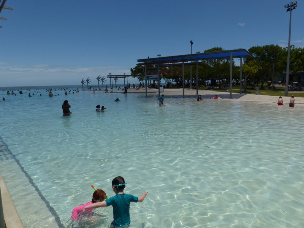 | The Best Things to Do in Queensland Australia featured by top international travel blogger, Tracy's Travels in Time: Cairns lagoon in Queensland