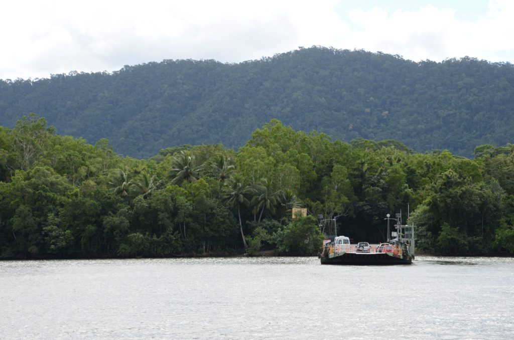 | The Best Things to Do in Queensland Australia featured by top international travel blogger, Tracy's Travels in Time: a boat on the water at Cape Tribulation