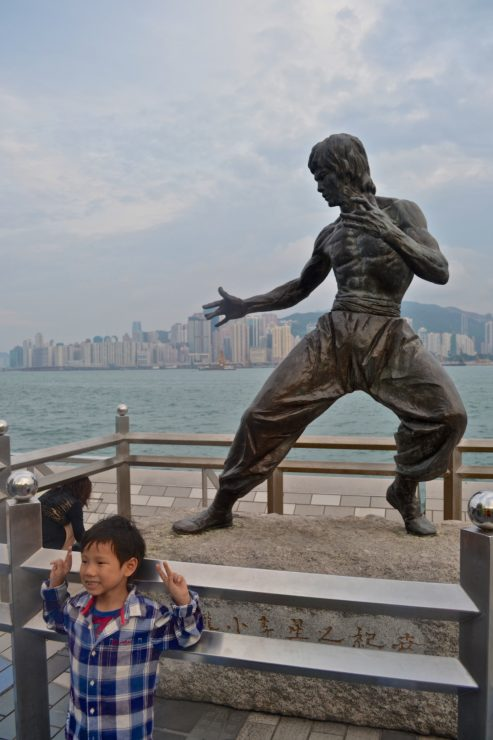 Hong Kong and the statue of Bruce Lee