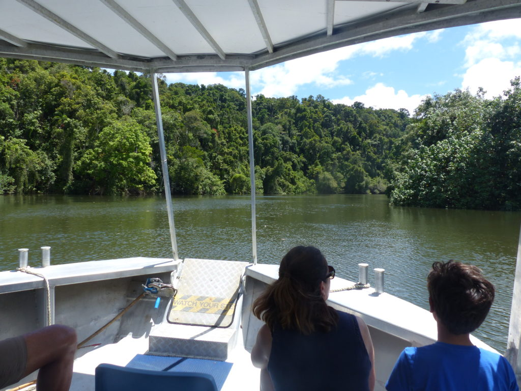  The Best Things to Do in Queensland Australia featured by top international travel blogger, Tracy's Travels in Time: A boat on a river in Cairns