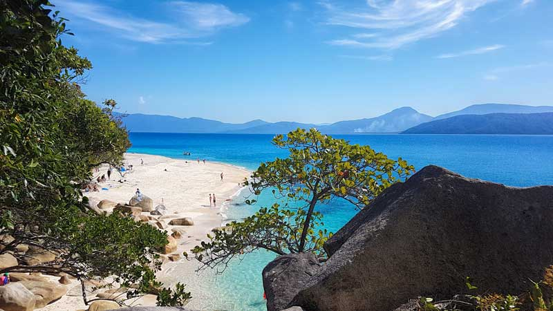 a beach on Fitzroy Island Queensland   The Best Things to Do in Queensland Australia featured by top international travel blogger, Tracy's Travels in Time