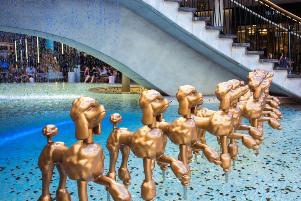 | The Best Things to Do in Queensland Australia featured by top international travel blogger, Tracy's Travels in Time: 20 things to do in Queensland Australia visit the Gold Coast and see gold statues of poodles